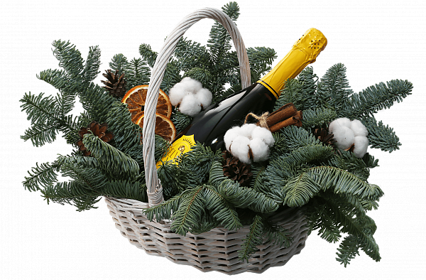 Willow Vine small Christmas Gift Basket