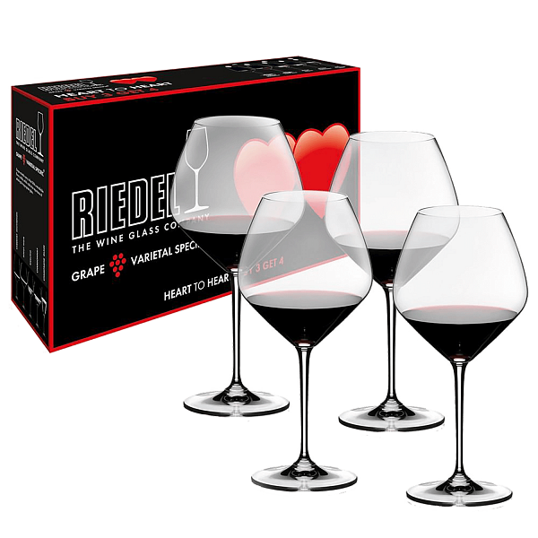Riedel Heart to Heart Pinot Noir (4 glasses set)