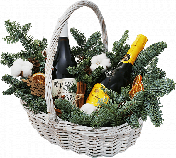 Willow Vine medium Christmas Gift Basket
